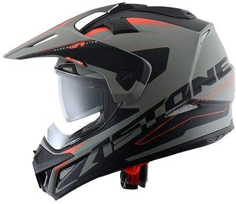 Casque de motocross homologu/é en polycarbonate 3 en 1 enduro route et trail Matt black//red Casque int/égral polyvalent Astone Helmets -CROSS TOURER GRAPHIC ADVENTURE