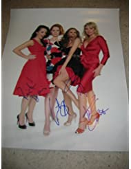 """* SEX AND THE CITY * cast signed 16x20"""" photo by Cattrall, Parker, Davis, Cross / UACC RD # 212"""