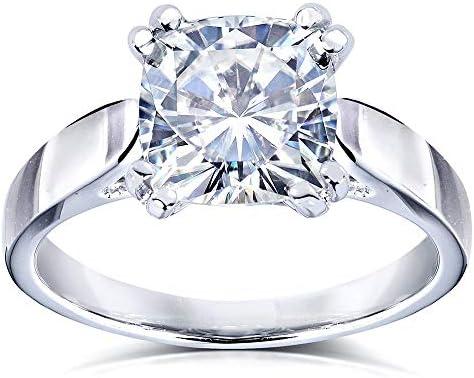 Kobelli Forever One (D-F) Colorless Moissanite Solitaire Ring 2 CTW 14k White Gold