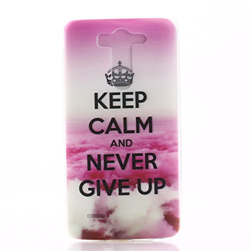 G3 Case,LG G3 Phone Case,Gift_Source [AIR CUSHION] lg g3 cover Case Soft TPU [Capsule] [Keep Calm And Never Give Up] Premium Flexible Soft TPU Slim Case for LG G3 Case ,Sent Screen Protector + Stylus Pen