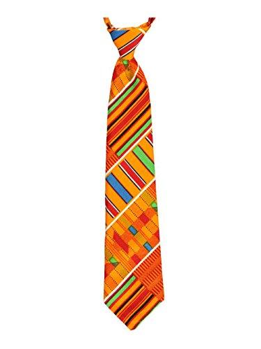 Cookie's Brand Adjustable Banded Necktie with Clip - kente #2, 14