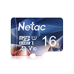 Netac 16GB Micro SD Card, MicroSDHC Memory Card UHS-I, 90/10MB/s(R/W), 600X, C10, U1, A1, V10, Full HD, TF Card for…