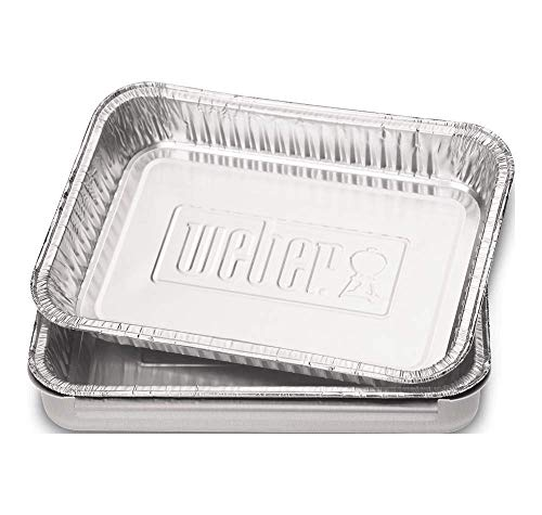 Weber 6415 Small 7-1/2-Inch-by-5-inch Aluminum Drip Pans