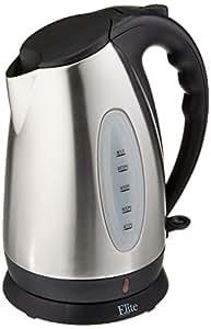 Elite Platinum EKT-7050 1.7 Liter BPA Free Stainless Steel Cordless Electric Kettle