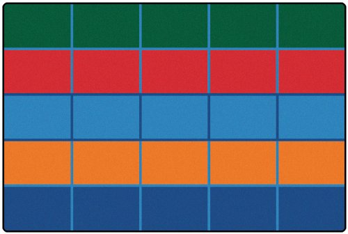 Color Blocks Value Seating Kids Rug Rug Size: 6u0027 X 9u0027