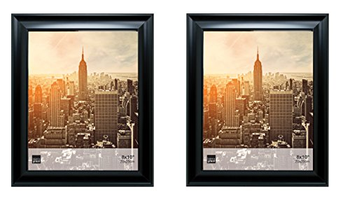 Kiera Grace Reagan Picture Frame (Set of 2), 8 by 10 Inch, Black