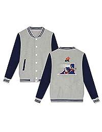 Unisex Women's Varsity Baseball Uniform Jacket CFL Montreal Alouettes Sport Coat Winter Sweater Velvet