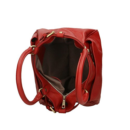 en in Rouge Aren Cm femme Made Sac main Italy 38x28x18 à véritable cuir wqZ8I4q