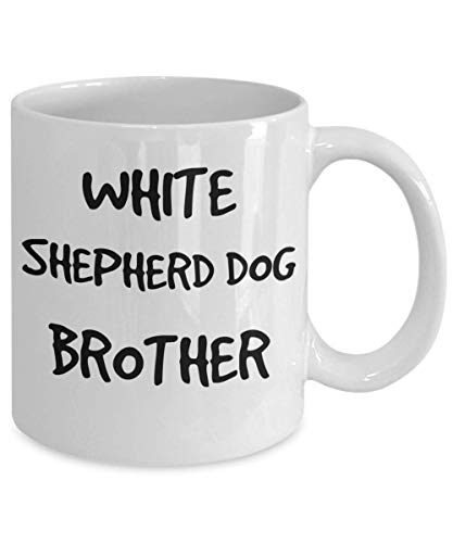 White Shepherd Dog Brother Mug - White 11oz 15oz Ceramic Tea Coffee Cup - Perfect For Travel And Gifts 2
