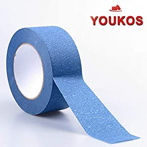 "Painters Tape 2 inch( 3Pk 1.88""× 60 Yards) YOUKOS Blue Painter's Tape Multi-Use Masking Tape Painted Walls,Trim,Glass,Metal,Wood Crepe Paper Youkos-Painters tape-60Y by Nakios"