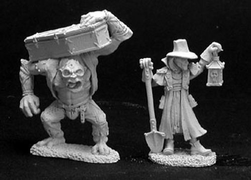 (Reaper Miniatures Townsfolk VI: Gravedigger & Henchman 2P 02845 Dark)
