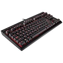 Corsair Gaming K63 Compact Mechanical Keyboard, Backlit Red LED, Cherry MX Red, Black (CH-9115020-NA)
