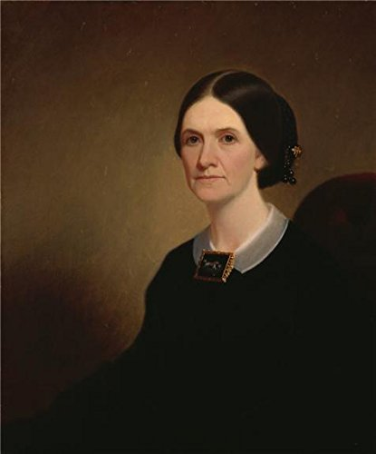 Oil Painting 'George Caleb Bingham,Mrs. James Turner Vance Thompson,1859-1860' 16 x 19 inch / 41 x 49 cm , on High Definition HD canvas prints is for Gifts And Basement, Bed Room And Powder Ro decor