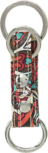 Vera Bradley Iconic Three Times a Keychain, Signature Cotton, Desert Floral +. Power