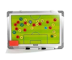 Imán de junta de pizarras tácticas de fútbol, entrenamiento de fútbol a-nam Borad con marco de aleación de aluminio, rotulador y borrador