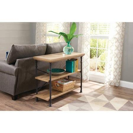 Stylish Modern Design Better Homes and Gardens River Crest Anywhere Console Sofa Tables , Rustic Oak Finish