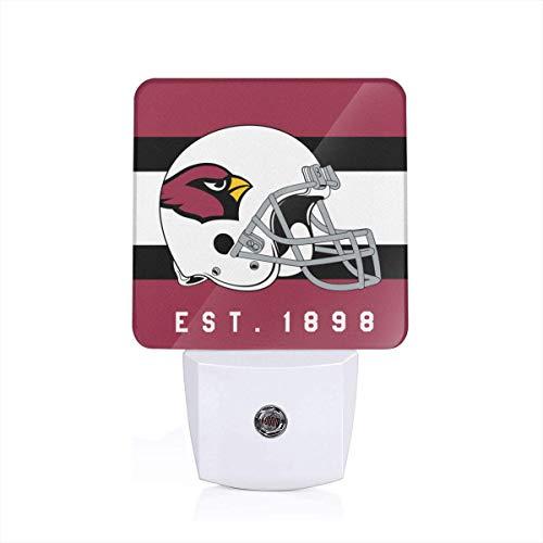 Gdcover Arizona Cardinals Helmet Design Plug-in LED Night Light with Dusk-to-Dawn Sensor for Bedroom Hallway ()