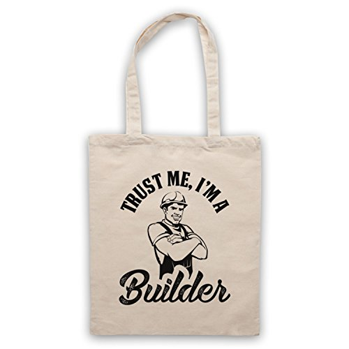 Trust Me I'm A Builder Funny Work Slogan Bolso Natural