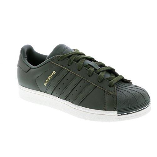 adidas Superstar, Zapatillas de Baloncesto Para Hombre Verde (Carnoc / Rojsld / Negbás 000)