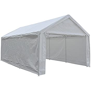 Abba Patio 12 x 20-Feet Heavy Duty Carport Portable Garage Car Canopy Shelter  sc 1 st  Amazon.com & Amazon.com: ALEKO CP1020NS 10 X 20 Heavy Duty Steel Frame Carport ...