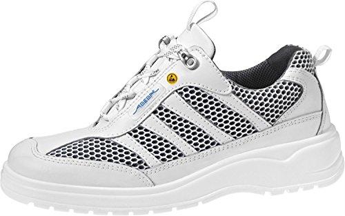 Abeba ESD-S-Schuh light Schnuerschuh weiss, Glattleder m. Textil, CE, EN ISO 20345:2011, S1, Gr. 35
