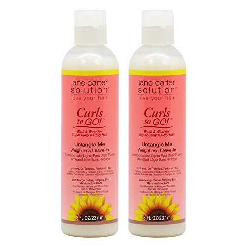 Jane Carter Curls to Go Untangle Me Weightless Leave In 8oz/ 237ml