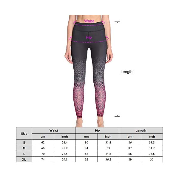 Lixada High Waist Yoga Pantspocket Yoga Pants Tummy Control Workout Running Fitness 4 Way Stretch Yoga Leggings