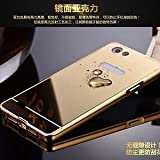 AE (TM) Luxury Metal Bumper + Acrylic Mirror Back Cover Case For OPPO Neo 7 GOLD