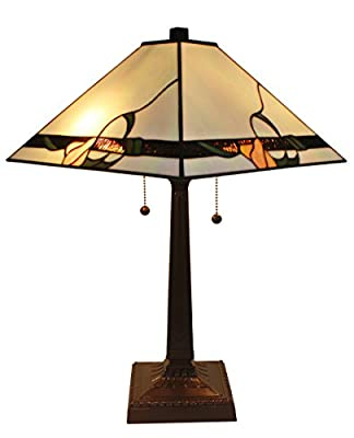 Amora Lighting AM057TL14 Tiffany Style Mission Design Table Lamp 23 In