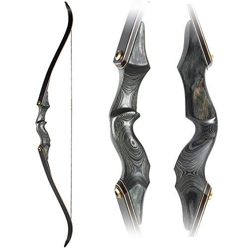 Obert Archery Takedown Recurve Bow 58inch Traditional Longbow Hunting Target Practice (55)