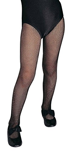 70's Dance Recital Costumes (Girl's Black Fishnet Tights Child Stockings Hosiery Costume Accessory Large)