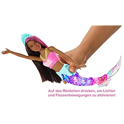 Barbie Dreamtopia Sparkle Lights Mermaid, Brunette: Toys & Games