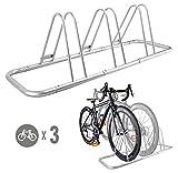 CyclingDeal 3 Bike Bicycle Floor Parking Rack Storage Stand