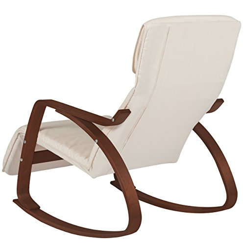 Amazon.com: Best Choice Products Cushioned Birch Bentwood Rocking ...