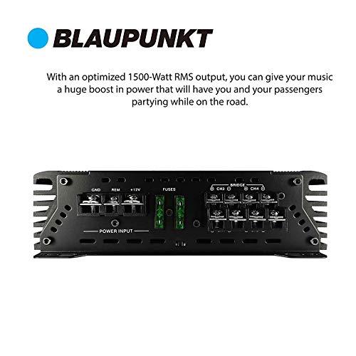 Blaupunkt 1500W 4-Channel, Full-Range Amplifier
