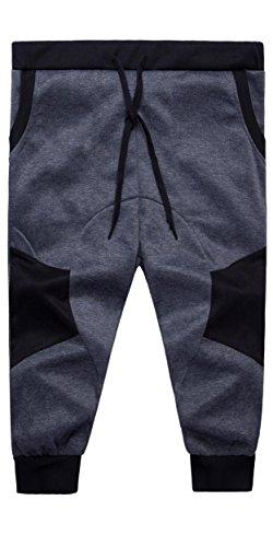 Boy's Jogger Capri Pant Summer Sports Pants Shorts Dark Grey 6 Boys Capri Pants