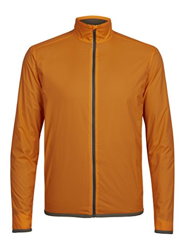 Icebreaker Merino Men's Incline Windbreaker Jacket, Bonfire/Kona, (Bonfire Orange Apparel)