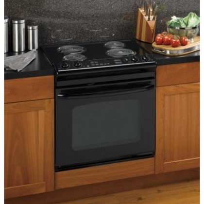 GE JDP39DNBB 30 Drop-in Electric Range - Black