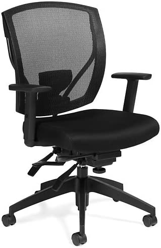 Atwater Mesh MidBack MultiAdjustment Task Chair Black Mesh Fabric Seat/Black Mesh Back/Black Frame