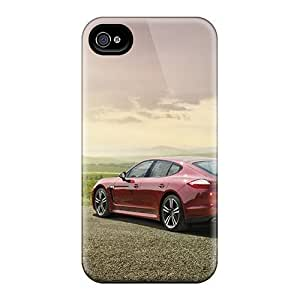 Shock-dirt Proof Red Porsche Panamera Cases Covers For Iphone 4/4s