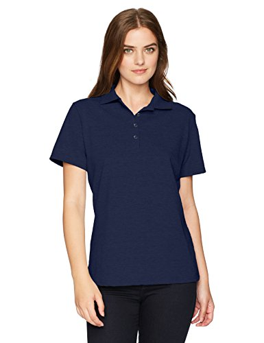 Hanes Women's X-Temp Polo with FreshIQ, Navy, Large