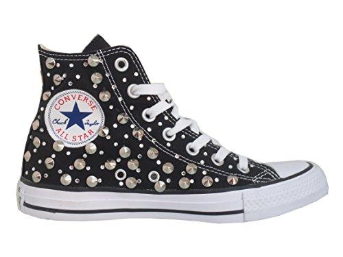 Converse all star Borchie Strass borchiate nero black ( prodotto artigianale )