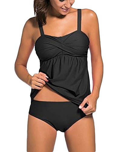 Di dimensioni Swimwear Carino Push Da Donne grandi Beachwear Bagno Solido Nero Colore Beach Up Bikini Riempito Costumi 6Zq7wqH