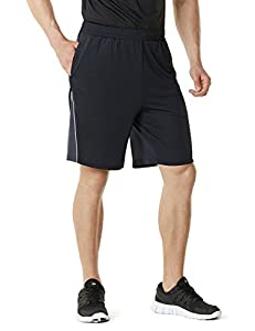Tesla Men's Hyper Dri Quick Athletic Training Shorts Active w Pockets MBS03 / CMBS01