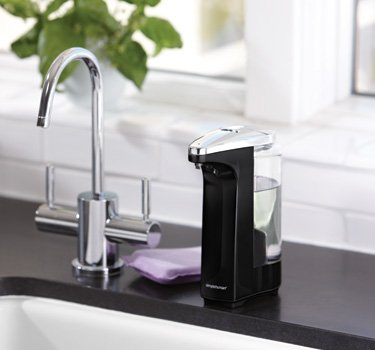 simplehuman Compact Sensor Pump with Soap Sample Brushed Nickel, 8 Fluid Ounce by simplehuman