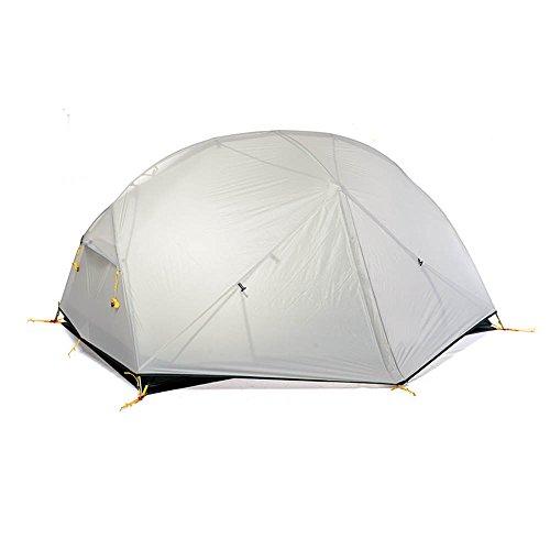 バスト落ち込んでいるクロスQFFL zhangpeng テント層雨嵐3シーズンアルミポールテントダブル屋外キャンプハイキングキャンプテント3色オプション トンネルテント ( 色 : 白 )