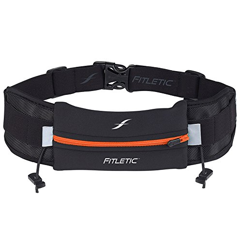 Fitletic Trail Running Belt - Black & Orange