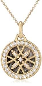"""Monica Rich Kosann """"Gate Lockets"""" Round Diamond Gate Necklace"""