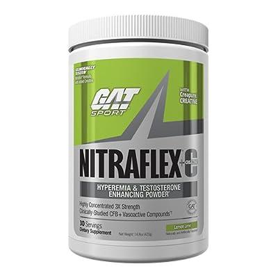 GAT Nitraflex + C Creatine Lemon Lime Preworkout Supplement 30 Servings, 14.8 Ounce