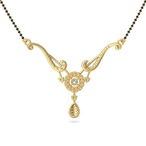 Or jaune 18K-CT TW White-diamond (IJ | SI) Mangalsutra